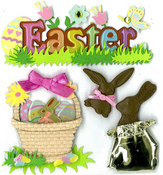 Chocolate Easter Bunnies Stickers - Jolee's Boutique
