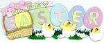 Easter Word Sticker - Jolee's Boutique