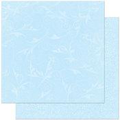 Powder Blue Flourish Paper By Bo Bunny