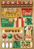 At The Bowling Lanes Cardstock Stickers