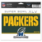 Packers Super Bowl XLV Champions Decal By Wincraft