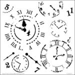 Time Travel 6 x 6  Template - Crafters Workshop