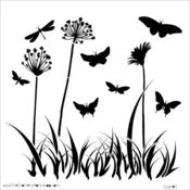 Butterfly Meadow 12 x 12 Template - Crafters Workshop