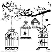 Birds Of A Feather 12 x 12 Template - Crafters Workshop