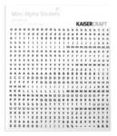 White & Black Mini Alphas - KaiserCraft