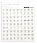 White & Chocolate Mini Alphas - KaiserCraft