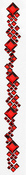 Red Square Crystal Border Stickers By Mark Richards