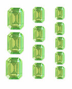 Citron Octagon Crystal Stickers By Mark Richards