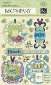 Tag Grand Adhesion Stickers - Botanical