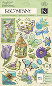 Botanical Icon Clearly Yours Epoxy Stickers