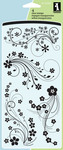 Flower Flourish Clear Stamps By Inkadinkado