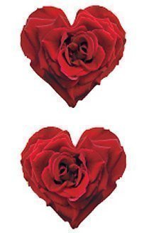 Red Rose Heart Stickers