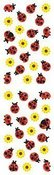 Lady Bugs & Flowers Stickers
