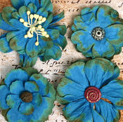 Assorted Deep Blue Flower Mix By Petaloo