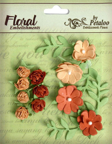 Tan/Brown Roses By Petaloo