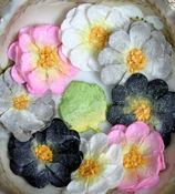 Pink/White/Black/Grey Sweetpea Flowers By Petaloo