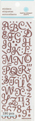 Pink Small Glitter Alpha Stickers By Martha Stewart Crafts