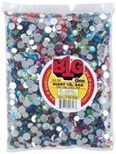 Colored Rhinestones, One Pound Mixed Bag