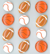 Sports Balls Stickers By Jolee's Boutique