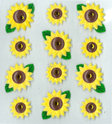Sunflowers Stickers By Jolee's Boutique