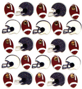Football & Helmets Repeat Stickers By Jolee's Boutique