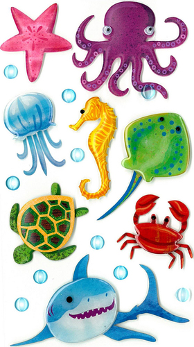 Large Sea Creature Stickers By Jolee's Boutique