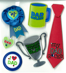 Number 1 Dad Stickers By Jolee's Boutique