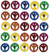 Peace Sign Repeat Stickers By Jolee's Boutique