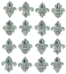 Silver Fleur di Lis Repeat Stickers By Jolee's Boutique