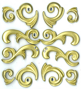 Gold Flourishes Stickers By Jolee's Boutique