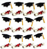 Grad Cap N Diploma Stickers By Jolee's Boutique