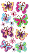 Paisley Butterfly Repeat Stickers By Jolee's Boutique
