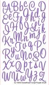Sweetheart Purple Glitter Alpha Stickers By Sticko