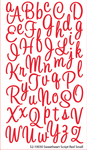 Sweetheart Red Glitter Alpha Stickers By Sticko