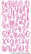 Sweetheart Script Pink Alpha Stickers By Sticko