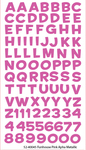Funhouse Pink Metallic Alpha Sticko Stickers