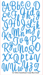 Sweetheart Blue Glitter Alpha Stickers By Sticko
