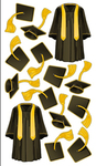 Cap N Gown Stickers By Sticko