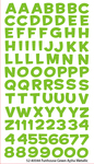 Funhouse Green Metallic Alpha Stickers By Sticko