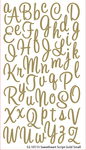 Sweetheart Gold Glitter Alpha Stickers By Sticko