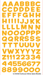 Funhouse Yellow Metallic Alpha Stickers By Sticko