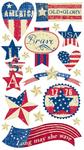 Stars & Stripes Stickers By Sticko