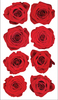 Red Roses Stickers By Sticko
