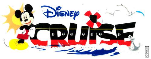 Disney Cruise Title Sticker