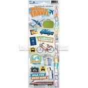 World Travel Stickers By Paper House