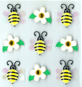 Bumble Bees Stickers By Jolee's Boutique