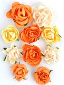 Sunset Paper Blooms By KaiserCraft