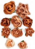 Terracotta Paper Blooms By KaiserCraft