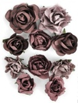 Aubergine Paper Blooms By KaiserCraft