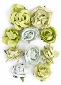 Olive Paper Blooms By KaiserCraft